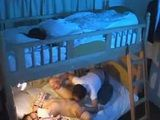 Young Girl Watched Elder Sister Fucking From A Bed Above