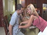 Mature Milf Mother Grabs Stepsons Cock In The Kitchen And Blows Him