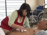 Busty Fat Caregiver Gets Swooped And Fucked By Old Geezer
