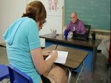 Caught On Cheating On Test Redhead Student Punished By Teacher