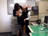 Perverted Old Boss Couldnt Resist His Big Titted Secretary And Attacked And Fucked Her In His Office