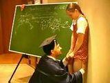 Pervert Teacher Took Advantage Of  Scared Young Schoolgirl