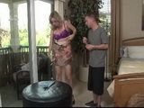 Horny Stepmother Taking Her Clothes Off Infront Her Stepson