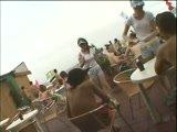 Japanese Waitress Groped By Customer at a Beach
