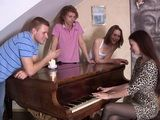 Teen Plays Piano Pretty Good But These Guys Will Teach Both Of Them How To Play Flute As Well