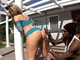White Whore Slave Is Subordinated To The Black Ghetto
