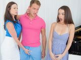 MILF Kendra Lust and her Student Dillion Harper Make a Threesome Scene