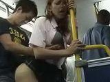 Blonde Schoolgirl Groped And Fucked In The Bus