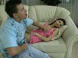 Sleeping Russian Girl In Nylons Getting Fucked