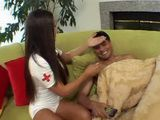 Hot Nurse Knows The best Way To Help Sick Guy