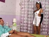 Ebony Nurse Healing Injured Patient Penis Best Way She Knows