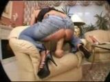 Huge Dildo Ripped Jeans And Awesome Creampie