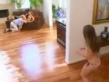 Cute Teen Have Fun With Her Best Friend Father