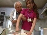 Busty Nursing Caregiver Gets Swooped And Fucked By Dirty Old Grandpa In The Kitchen