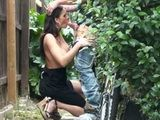 Neighbors Busty Milf Wife Caught Fucking In Backyard On Husbands Birthday Party
