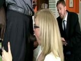 Blonde cougar gets smashed by a big black businessman
