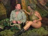 Girl In Uniform Humilated Poor Guy In Captivity