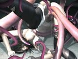 3d hentai  hot fucked by tentacles