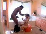 American Mature Housewife Anal Fucked By Big Black Cock In The Kitchen