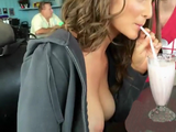 Naughty Teen Will Expiate Someday For Teasing Her Friends With Flashing Boobs