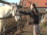 Teen Having Idyllic Village Day Spent With Grandpas Horse Dick On Farm