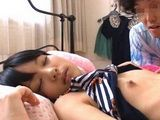 Sleeping Cute Teen Step Sister Abe Mikako Abused By Her Perverted Step Brother