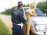 Arresting Hot Blonde For Fast Ride And Punishing Her With A Nightstick