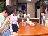 Private Teacher Jerked Off Japanese Boy With His Mom In A kitchen
