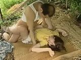Old Japanese Bastard Fucks Farmers Young Daughter In The Field