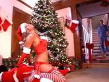 Sexy Santa Helper Woke Up Bad Guy Just In Time For Anal