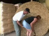 Immodest Peasant Fucks City Granny In The Barn