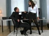 Sizzling Hot Business Milf Cornered Investor In Her Office