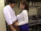 Restaurant Chef Gets Attacked By Busty Horny Cook Who Fucked Him Right There In A Restaurant Kitchen