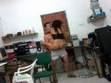 Horny Latina Teen Fucks Her BF In A Garrage