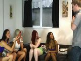 Stepsisters Friends Gathered Around Her Stepbrothers Big Cock