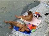 Voyeur Busted Amateur Couple On The Beach