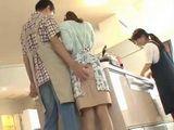 He Just Couldnt Resist Grabbing Teens Ass At Cooking Class