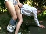 Girl Caught Peeing In Park Gets Fucked By Stranger