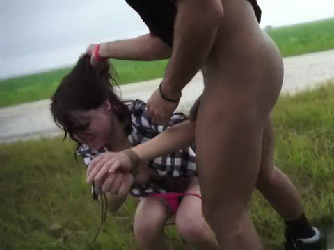 Hard Torturing Poor Brunette In The Middle Of Nowhere