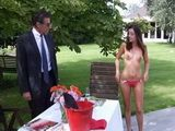 Daughter Appers Naked Infront Fathers Bussines Partner In The Garden