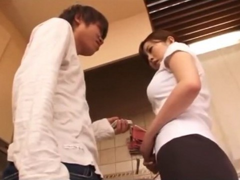 Blackmailed Stepmother Gets Punished In Kitchen By Her Mean Teenage Stepson