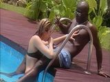 Black Bull Fucks White Tourist By The Pool