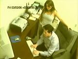Security Camera Tapes Busty Milf Giving Handjob To Colleague at Office Amateur CFNM
