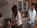 Boy Catches Mother and Father Fucking In Kitchen