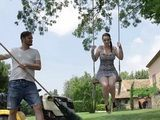 Daddy Should Never Leave Alone His Busty Daughter With Filthy Gardener