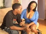Busty Ebony Mama Convinces Sons Young Friend To Fuck Her MILF Ass